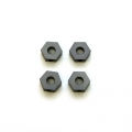 STRC CNC Machined Alum. Hex Adapters for HPI Blitz (Gun Metal) 4 pcs