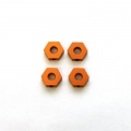 STRC CNC Machined Alum. Hex Adapters for HPI Blitz (Orange) 4 pcs