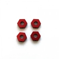 STRC CNC Machined Alum. Hex Adapters for HPI Blitz (Red, limited web edition) 4 pcs