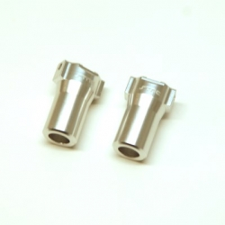 CNC Machined Aluminum Precision Rear Lock-outs for HPI Venture (Silver)