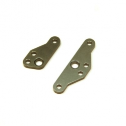 CNC Machined Aluminum HD Steering Plate Set for HPI Venture (Gun Metal) 1 pair