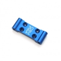 STRC CNC Machined Aluminum Front Bulkhead with 25/30 deg. option (Blue)