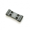 STRC CNC Machined Aluminum Front Bulkhead with 25/30 deg. option (Gun Metal)