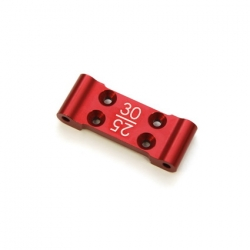 STRC CNC Machined Aluminum Front Bulkhead with 25/30 deg. option (Red, web limited)