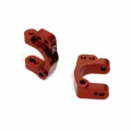 STRC CNC Machined Aluminum HD Front C-Hub Carriers (Red)
