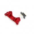 STRC CNC Machined Aluminum Rear Camber Link Mount (web limited, red)