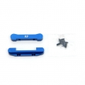 STRC CNC Machined Aluminum Rear Pivot Blocks (blue)
