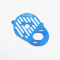 STRC CNC Machined Aluminum Heatsink Finned Motor Plate (Blue)