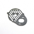 STRC CNC Machined Aluminum Heatsink Finned Motor Plate (Gun Metal)