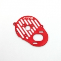 STRC CNC Machined Aluminum Heatsink Finned Motor Plate (web limited, red)