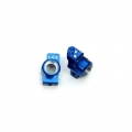 STRC CNC Machined Aluminum Hub Carriers SP2 style, 0.5 degrees toe-in (Blue)