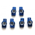 STRC Kyosho Rear Hub Carriers Tuner package set (0, 0.5, 1 deg.) Blue