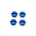 STRC CNC Machined Aluminum lock-pin type Hex Adapters (4 pcs) Blue