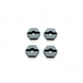 STRC CNC Machined Aluminum lock-pin type Hex Adapters (4 pcs) Gun Metal