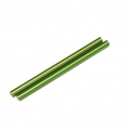 CNC Machined Aluminum 6x106mm threaded links (1 pair, Green)