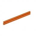 CNC Machined Aluminum 6x106mm threaded links (1 pair, Orange)