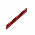 CNC Machined Aluminum 6x106mm threaded links (1 pair, Red)