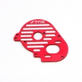 STRC CNC Machined Aluminum Heatsink Finned Motor Plate for XXX-SCT (Red)