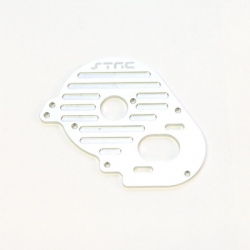 STRC CNC Machined Aluminum Heatsink Finned Motor Plate for XXX-SCT (Silver)