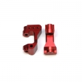 STRC CNC Machined Aluminum Front C-Hub Carriers (1 pair) for XXX-SCT (Red)