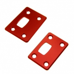 CNC Machined Aluminum Chassis Protector Plates (Front & Rear) for Arrma Outcast 6S (Red)
