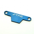 CNC Machined Alum. Battery Hold-down Plate for Rustler/Bandit (Blue)