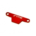 CNC Machined Alum. Battery Hold-down Plate for Rustler/Bandit (Red)