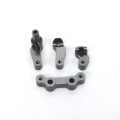 STRC CNC Machined Alum. Steering Bellcrank System (4 pcs) for SC10 4x4 (Gun Metal )