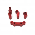 STRC CNC Machined Alum. Steering Bellcrank System (4 pcs) for SC10 4x4 (Red)
