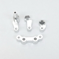 STRC CNC Machined Alum. Steering Bellcrank System (4 pcs) for SC10 4x4 (Silver)