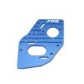 STRC CNC Machined Aluminum Heatsink finned motor plate for SC10 4x4 (blue)