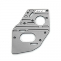 STRC CNC Machined Aluminum Heatsink finned motor plate for SC10 4x4 (Gun Metal)