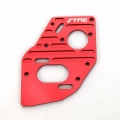 STRC CNC Machined Aluminum Heatsink finned motor plate for SC10 4x4 (Red)