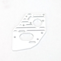 STRC CNC Machined Aluminum Heatsink finned motor plate for SC10 4x4 (Silver)