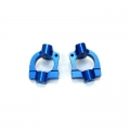 STRC CNC Machined Aluminum HD Caster Blocks (1 pair) for SC10 4x4 (Blue)