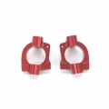 STRC CNC Machined Aluminum HD Caster Blocks (1 pair) for SC10 4x4 (Red)