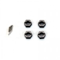 STRC CNC Machined Alum. Hex Adapters with drive pins (4 pcs) for SC10 4x4 (Gun Metal)