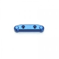 STRC CNC Machined Aluminum Front A-arm mount (1 pc) for SC10 4x4 (Blue)