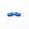 STRC CNC Machined Alum. Rear Arm Mount (3-2) w/delrin inserts for SC10 4x4 (Blue)