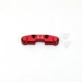 STRC CNC Machined Alum. Rear Arm Mount (3-2) w/delrin inserts for SC10 4x4 (Red)