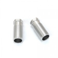 STRC CNC Machined Alum. Front Shock Bodies (2 pcs) for SC10 4x4 (Silver)