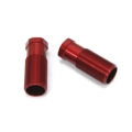STRC CNC Machined Alum. Rear Shock Bodies (2 pcs) for SC10 4x4 (Red)