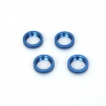 STRC CNC Machined Alum. Spring Collars w/o-ring (4 pcs) for SC10 4x4 (Blue)