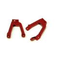 CNC Machined Alum. Front HD Shock Towers w/panhard link mount SCX10 II (1 pair).  Red
