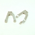 CNC Machined Alum. Front HD Shock Towers w/panhard link mount SCX10 II (1 pair) Silver