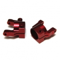 CNC Machined Aluminum Front C-Hub (1 pair) for Axial SCX10 II (Red)