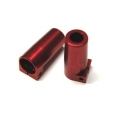 CNC Machined Aluminum Rear Lock-out for Axial SCX10 II (1 pair) red