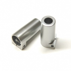 CNC Machined Aluminum Rear Lock-out for Axial SCX10 II (1 pair) Silver