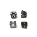 CNC Machined Aluminum Lower Shock/Suspension Link Mount (4 pcs) Gun Metal