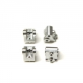 CNC Machined Aluminum Lower Shock/Suspension Link Mount (4 pcs) Silver